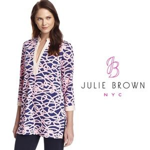 Julie Brown NYC Blas Tunic Navy Salior Rope Medium